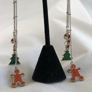 Christmas theme glass bead earrings